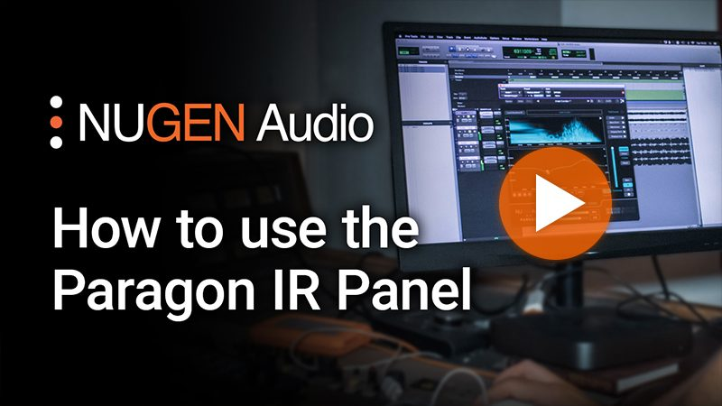 How to use the Paragon IR panel